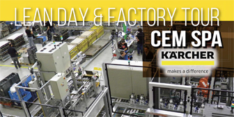 lean day and factory tour in CEM spa - gruppo Kärcher