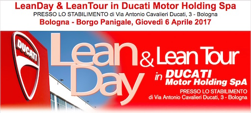 evento lean in Ducati il 6-04-2017